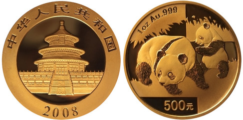 Panda Gold Coin 2008