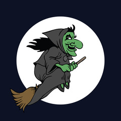 Scary Halloween Witch