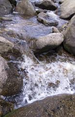 spring between stones