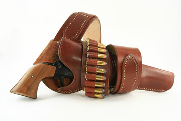 Pistol in Holster full view