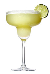 tequila and lime margarita drink, cocktail