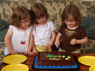 Cutting Birthday Cake