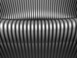 Abstract steel silver tube  background