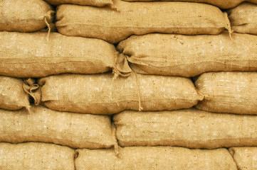 flood defense sandbag background