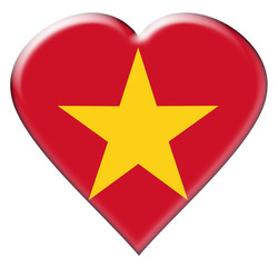 Icon of Vietnam flag