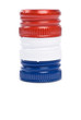Stack of Screw Caps in the Color of French Flag