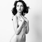 Nude elegant woman poster