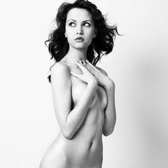 Nude elegant woman