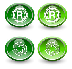 Recycle Icons, Ovals