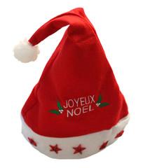 bonnet de Noël sur fond blanc