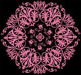 hexagon pink pattern poster