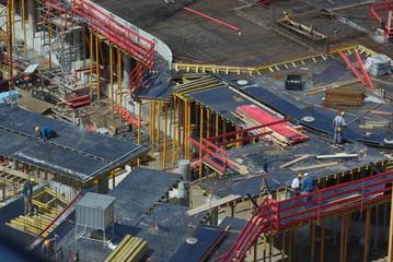 Betonbau auf Großbaustelle