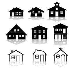 simple house illustrations