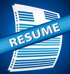 Resume illustration