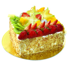 appetizing fruit pie