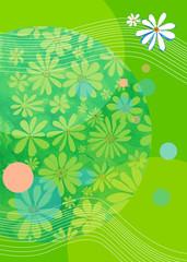 green background, summer