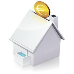 Maison et investir dans la récupération d'eau de pluie (reflet)