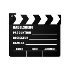 Filmklappe Babelsberg