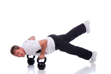 push-ups with one leg