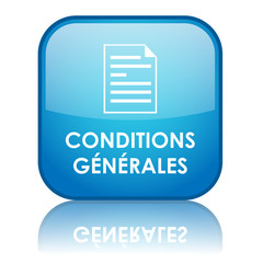 "Square ""CONDITION GENERALES"" button with reflection (blue)"