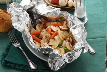 Coda di rospo al cartoccio e verdure - Secondi pesce Veneto