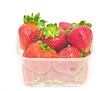 big strawberries in plastic package