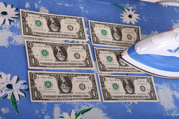 ironing dollars