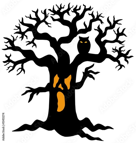 tree silhouette pictures. Spooky tree silhouette