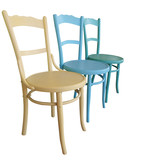 Three Antique Painted Chairs with path