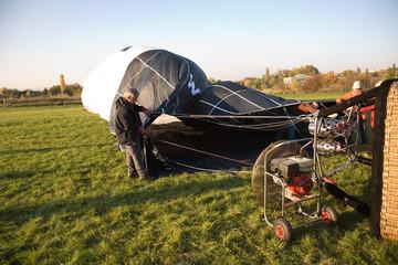 Vorbereitung für den Heissluftballonflug