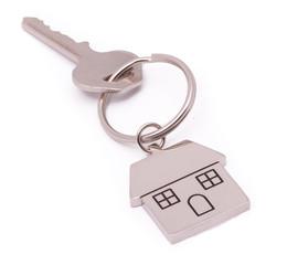 chrome house key isolated