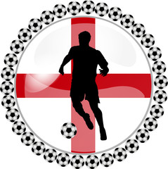 illustration eines fussball buttons england