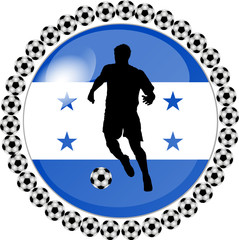 illustration eines fussball buttons honduras