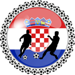 illustration eines fussball buttons kroatien