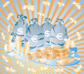 Savings of money, vector illustration