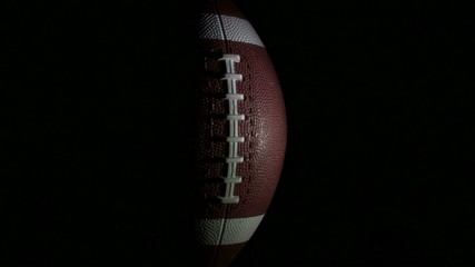 Football rotates against black full - HD