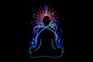 meditazione, yoga, fuoco, tecnologia