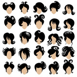 Big set of vector hair styling 3