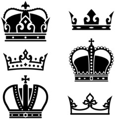 Royal Crowns - Vector illustration