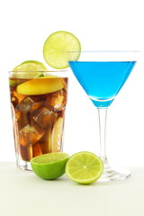 cocktail with blue Curacao