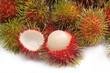 Tropical fruit - fresh Malaysian hairy rambutan