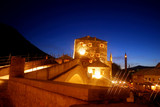 The Old Bridge at night, Mostar,. Bosnia-Herzegovina poster