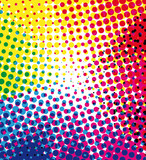 Colorful halftone dots background