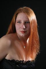 Frau mit rotem Haar
