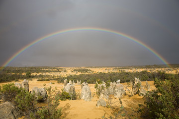 Rainbow over the pinnacles