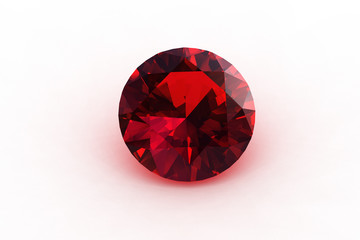 Round Euro Cut  Ruby Gemstone