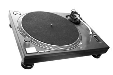 DJ Turntable isolated on white