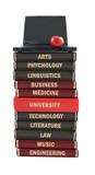 University subject textbooks poster