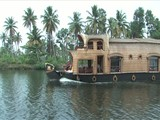Houseboat trip through backwaters of Alleppey, India