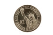 Statue of Liberty reverse of Presidential coin with clipping pat